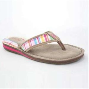 Sperry Top-Sider Tan & Plaid Leather Boat Sandals